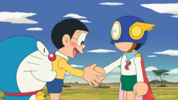 All-Star Cast of F. Characters: Close Call for Doraemon & Perman!?