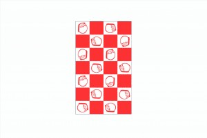 Petit envelope(checkerboard pattern)